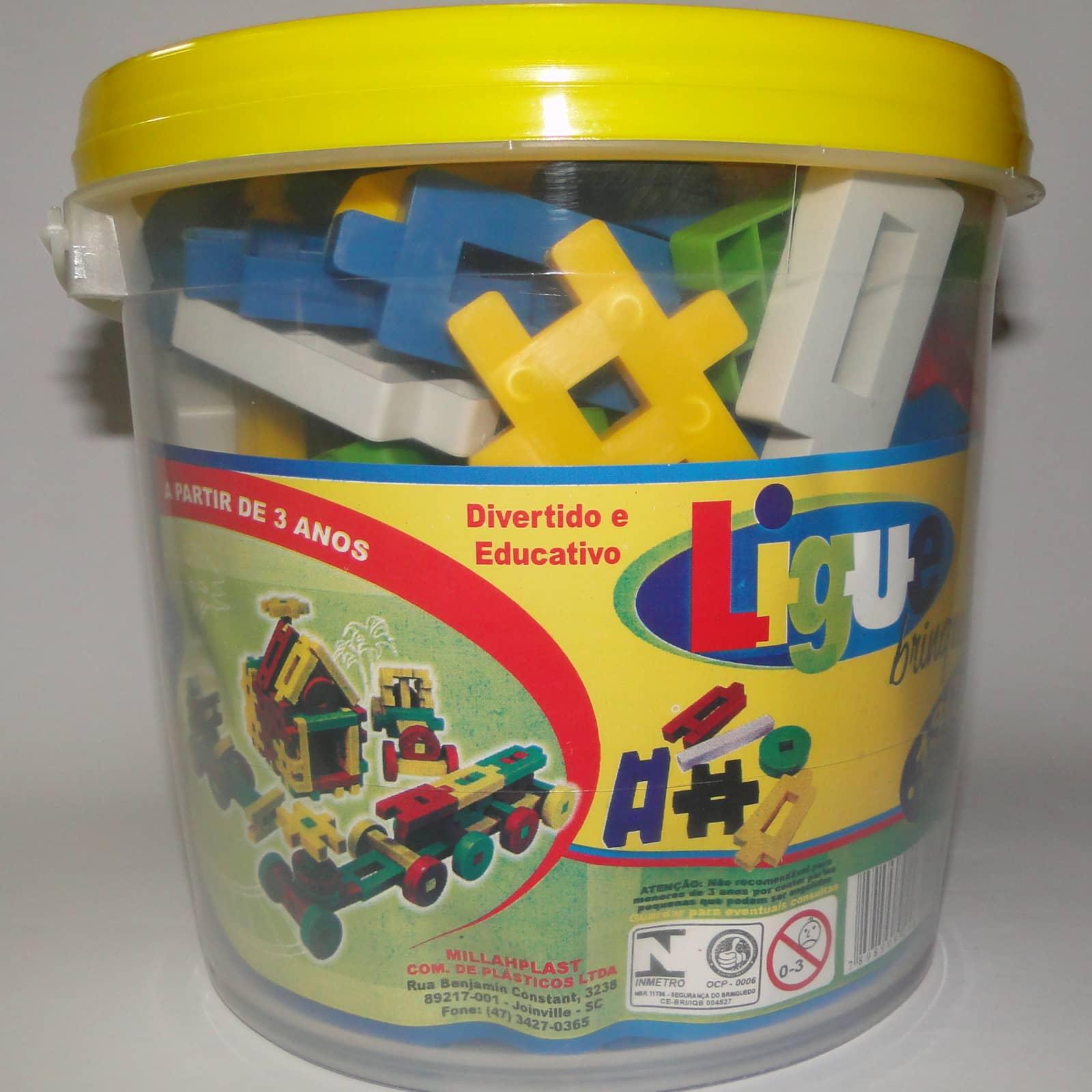 Ligue Brinque 130 peças - Ref 021
