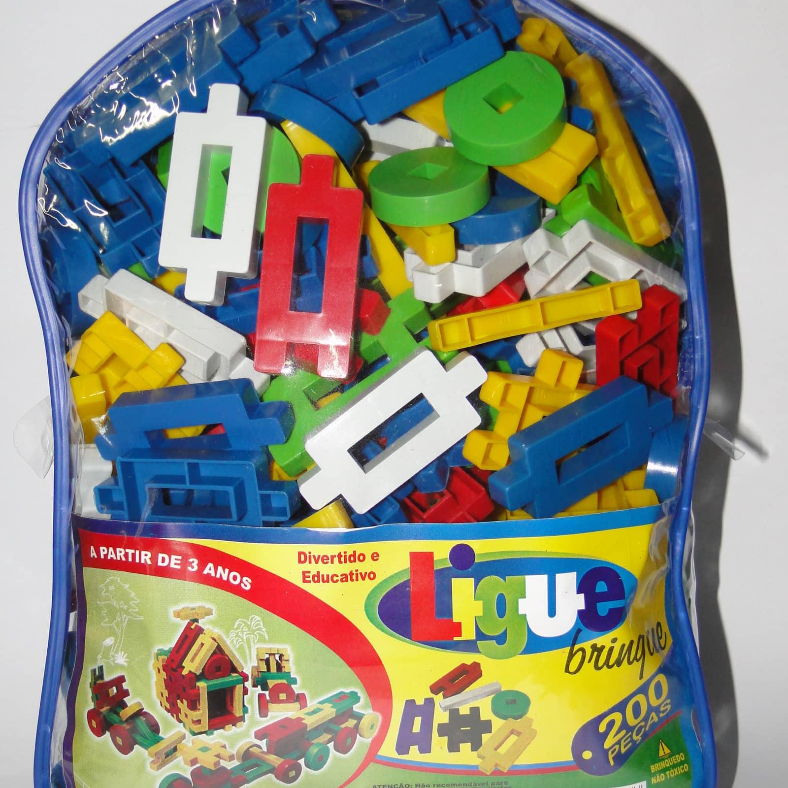 Ligue Brinque 200 peças - Ref 023